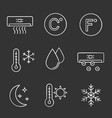 air conditioning chalk icons set vector image vector image