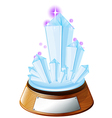 An ice-designed trophy with an empty label vector image vector image