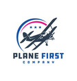 ancient airplane logo designs vector image vector image