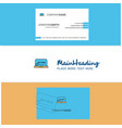 beautiful online shopping logo and business card vector image vector image