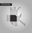black and white style icon microchip vector image vector image