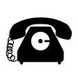 black silhouette antique phone icon vector image vector image