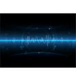 blue light circuit sound wave digital technology vector image vector image