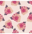 Bouquet of pink Peony flowers Seamless pattern vector image