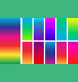 bright colorful rainbow backgrounds vector image