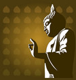 buddhist background vector image vector image