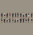 businessmen people isometric vector image vector image