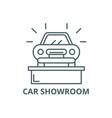 car showroom line icon car showroom vector image vector image