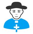 catholic shepherd flat icon vector image vector image