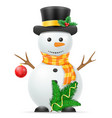 christmas snowman stock vector image