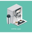 coffee machine isometric vector image vector image