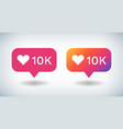 counter notification icon social media gradient vector image