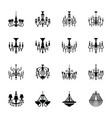 crystal chandelier solid icons vector image vector image