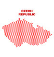 czech republic map - mosaic of love hearts vector image vector image