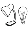 Desk lamp vector image