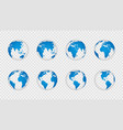 earth globe 3d realistic world map globes vector image