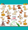 find one of a kind with dog characters vector image vector image