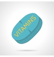 Flat icon for vitamin supplements vector image vector image