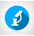 Flat round icon for microscope vector image vector image