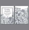 floral backgrounds with hand drawn herbs and vector image