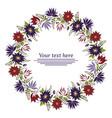 floral garland floral wreath vector image vector image