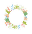 floral greeting card template vector image