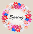 floral of spring background vector image vector image
