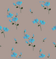 floral seamless pattern classic blooming leaves vector image