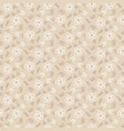 floral seamless pattern hand drawn style beige vector image