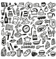 Food - doodles vector image