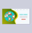 garden gnomes web template vector image