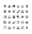 geometric shapes and symbols geometrical vector image vector image