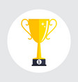 gold cup prize trophy winner icon vector image vector image