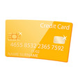 golden credit card vip client member service vector image vector image