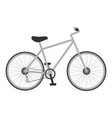 grey bicycle for kids isolated on a white vector image