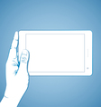 Hand Holding Tablet Horizontal vector image vector image