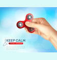 hand spinner toy poster vector image