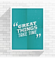 inspirational quotation vector image vector image