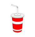 isolated soft drink paper cup vector image