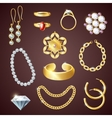 Jewelry Realistic Set vector image vector image