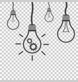 light bulb idea flat vector image vector image