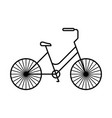 line icon bicycle vector image vector image