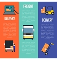 logistics and freight delivery banners set vector image