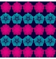 many fine ornate snowflake on a dark blue vector image