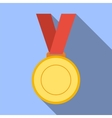 medal achievement award banner blank bright vector image vector image