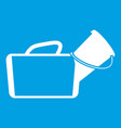 medical bag icon white vector image vector image