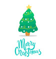 merry christmas icon of tree vector image vector image