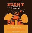 night camp banner design vector image