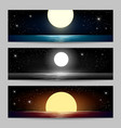 night seascapes set vector image
