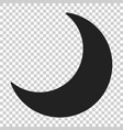 nighttime moon icon in flat style lunar night on vector image vector image